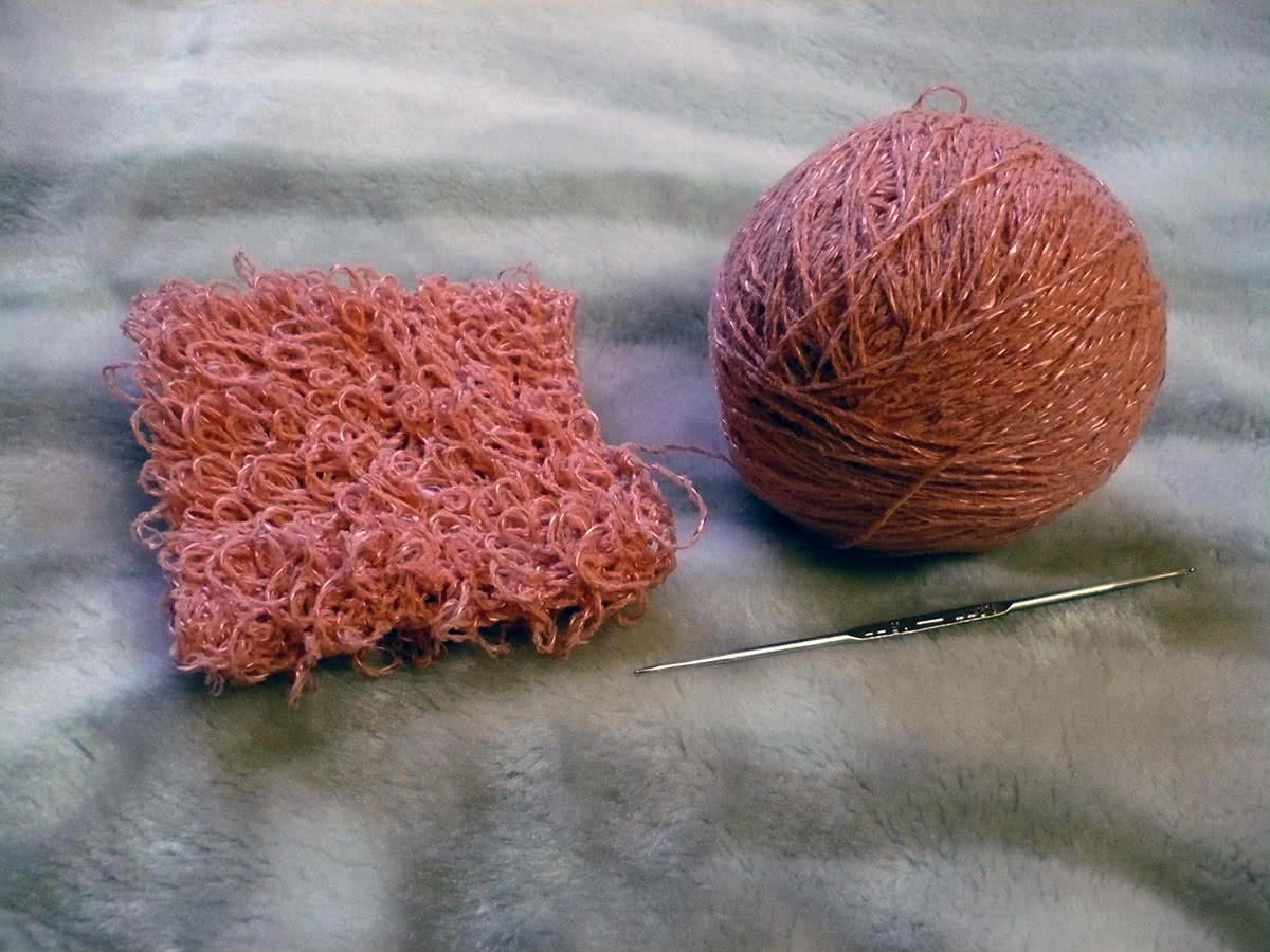 Как связать варежку мочалку