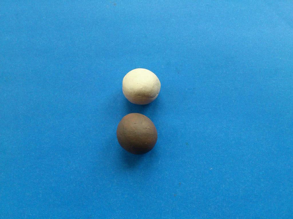 Как из пластилина сделать шарик