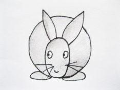 Рисуем кролика карандашом