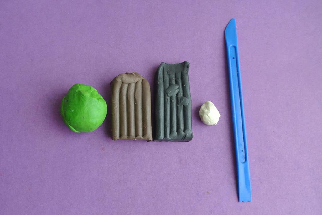Как сделать из коричневого пластилина 44