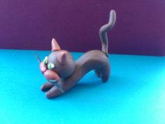 Как слепить кота из пластилина