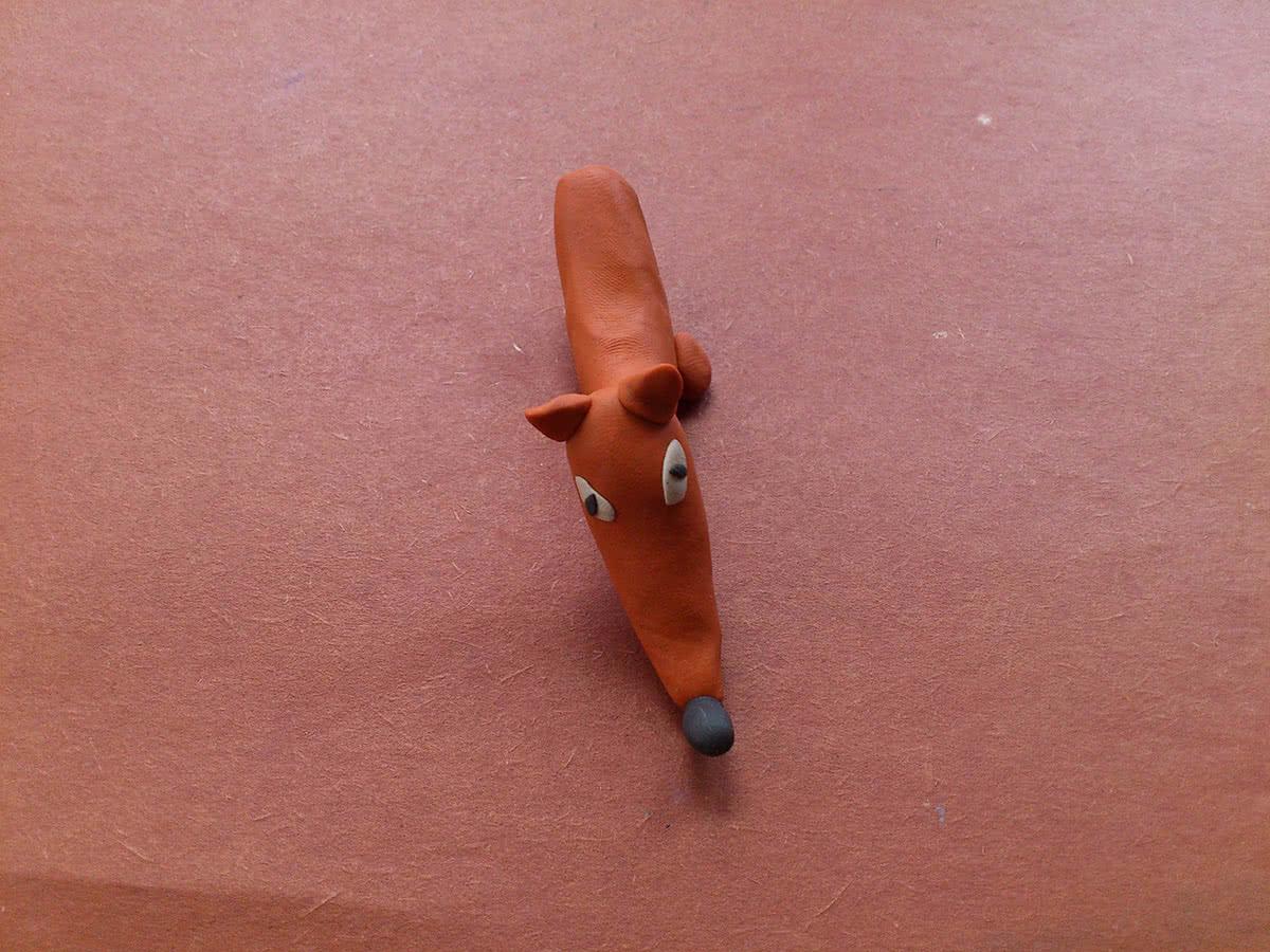 Как слепить лису из пластилина