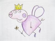 Как нарисовать свинку Пеппу