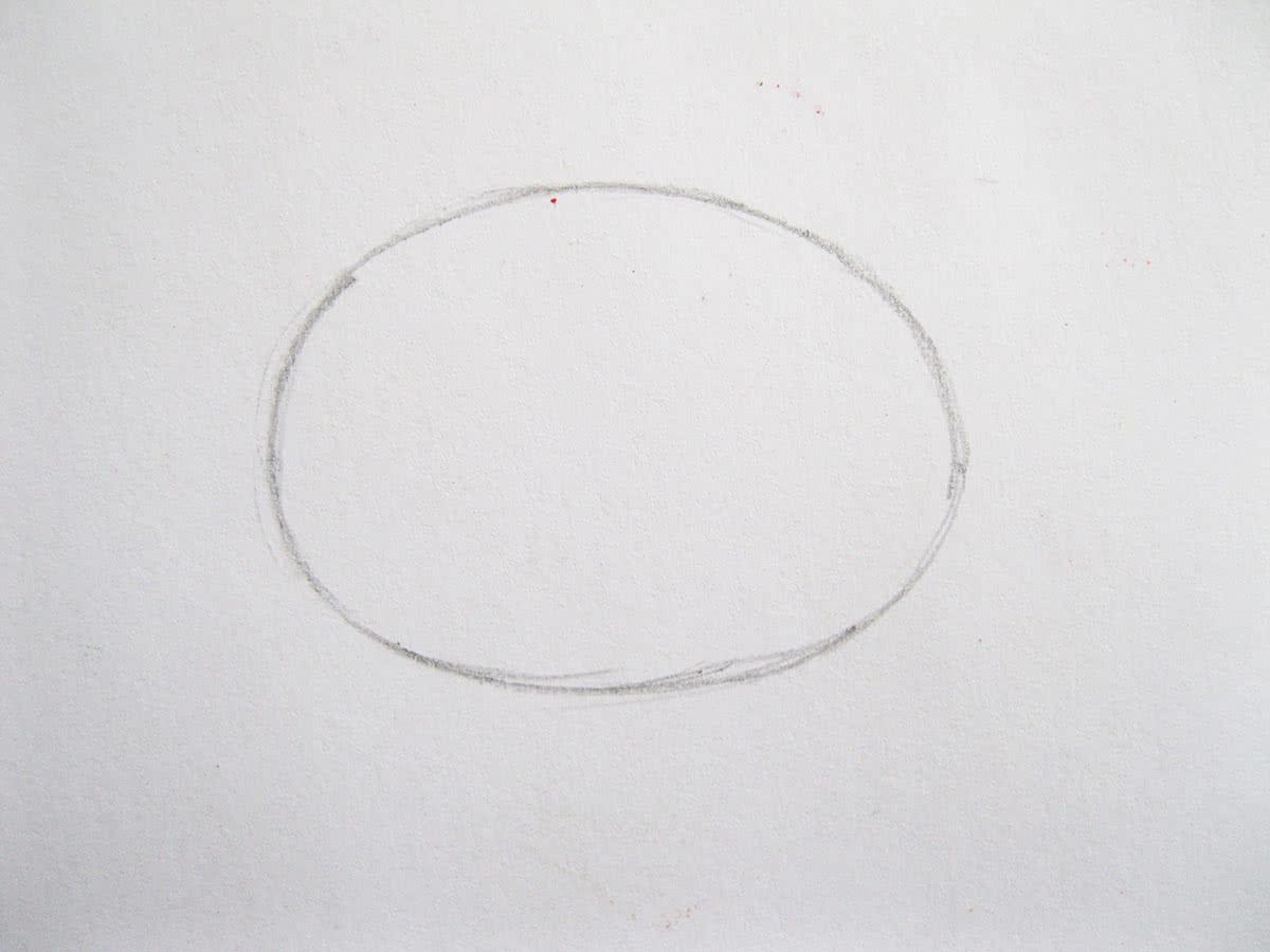 Как нарисовать капусту шаг 1