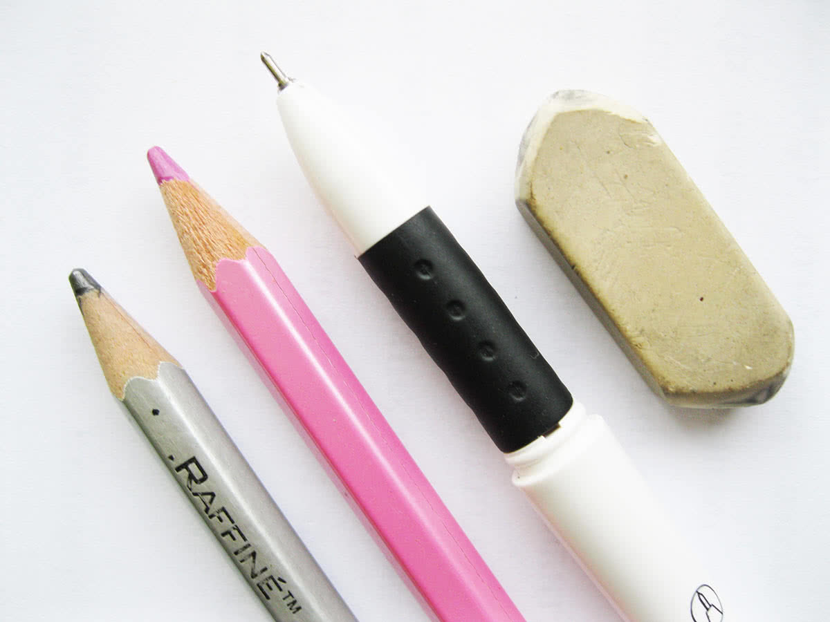 Инструменты для рисования свиньи