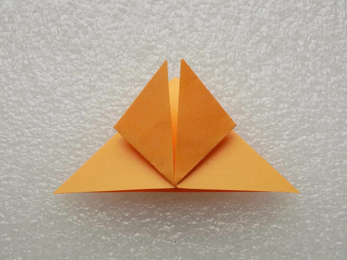 Оригами бабочка шаг 5