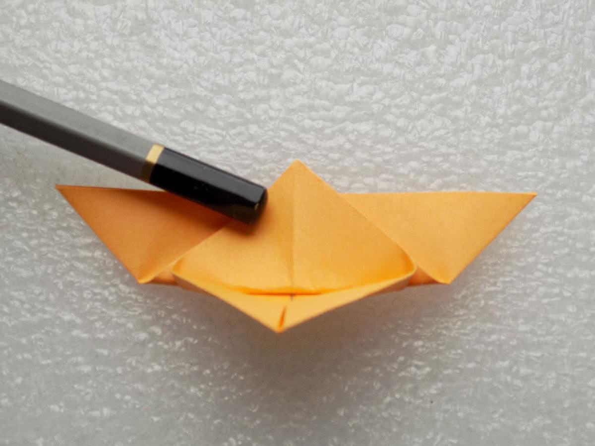 Оригами бабочка шаг 7