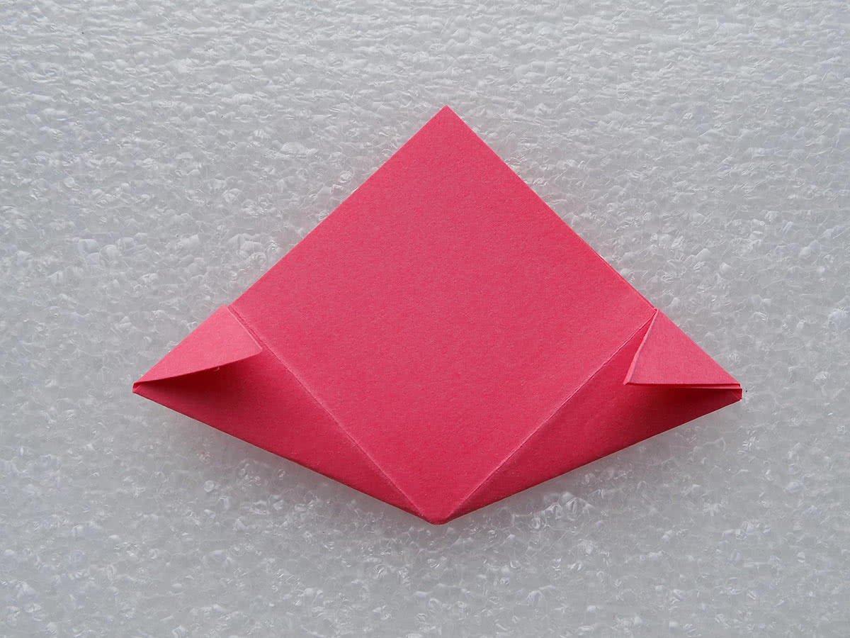 оригами цветок шаг 9
