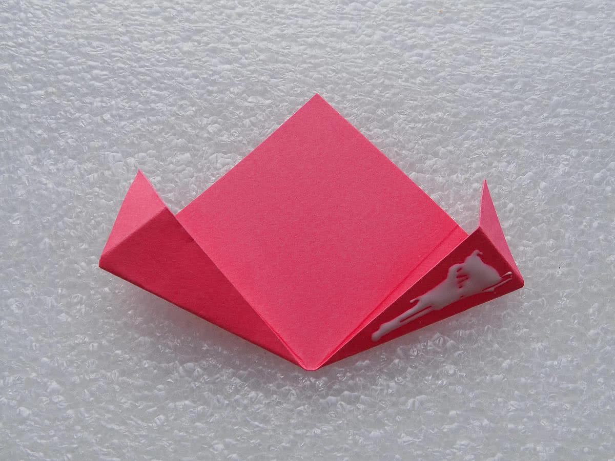 оригами цветок шаг 12
