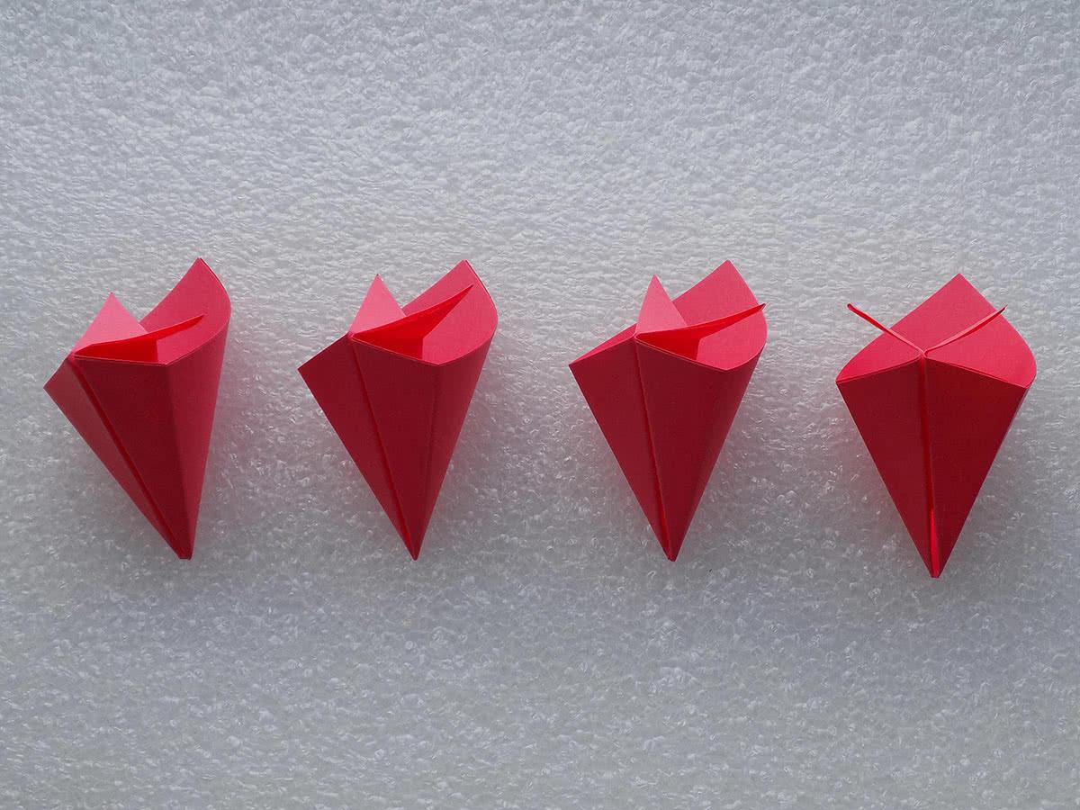оригами цветок шаг 14