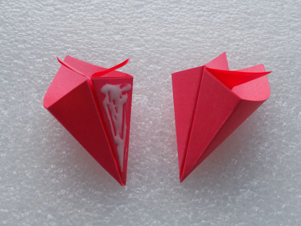 оригами цветок шаг 15