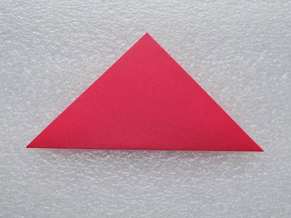 Оригами цветок шаг 1