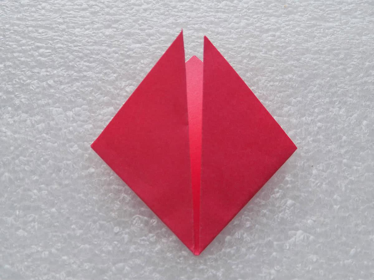 оригами цветок шаг 3