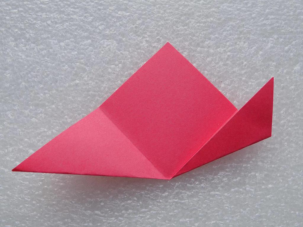 оригами цветок шаг 5