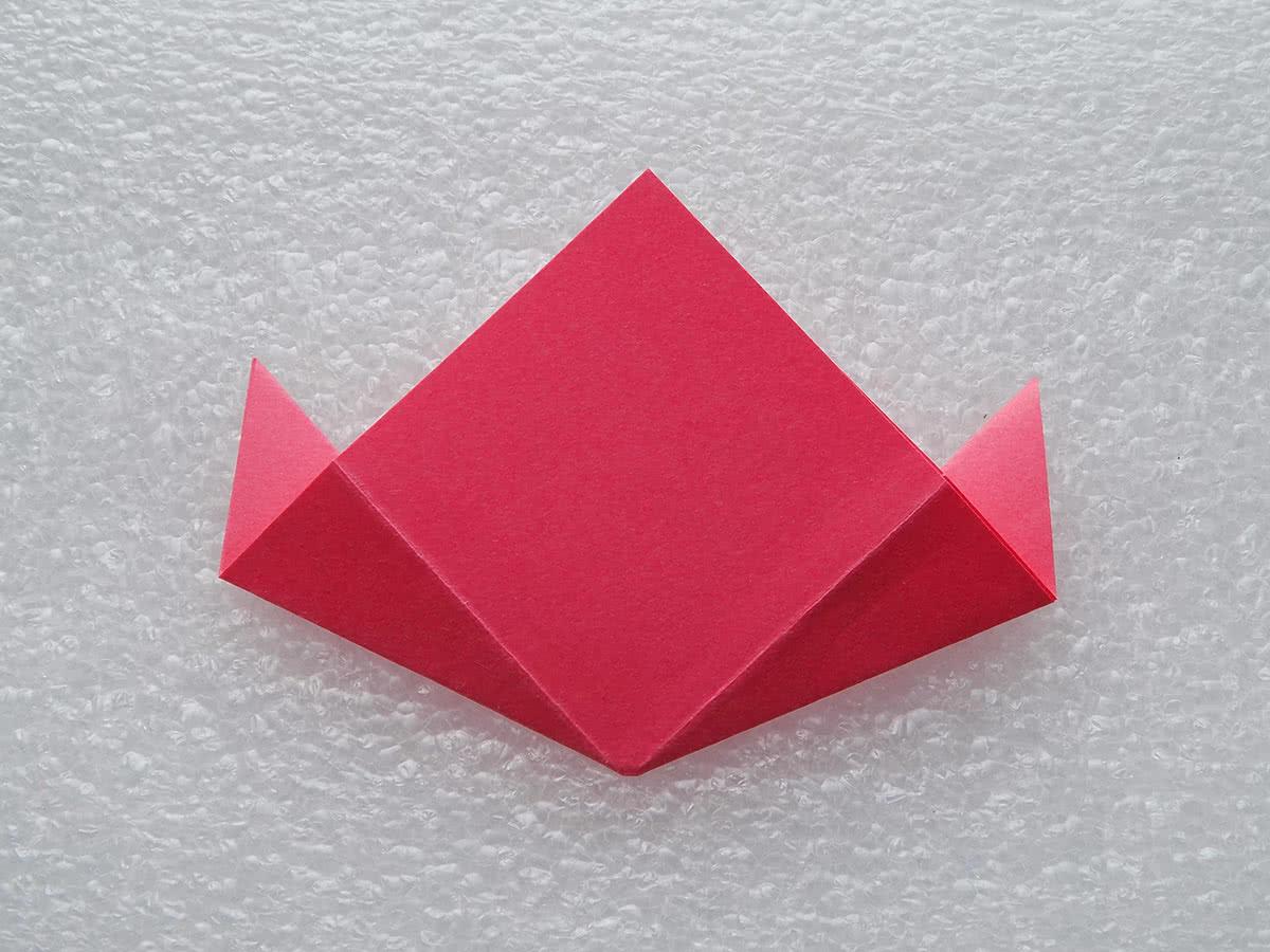 Оригами цветок шаг 7