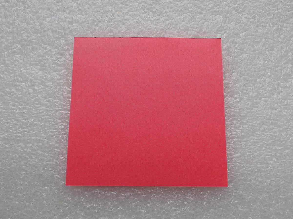 Оригами коробочка шаг 1