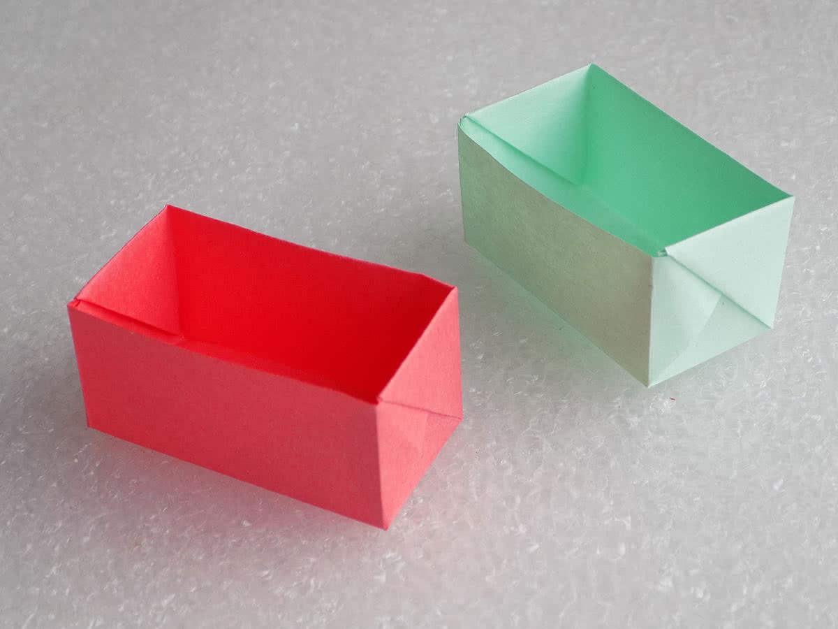 Оригами коробочка готовый результат