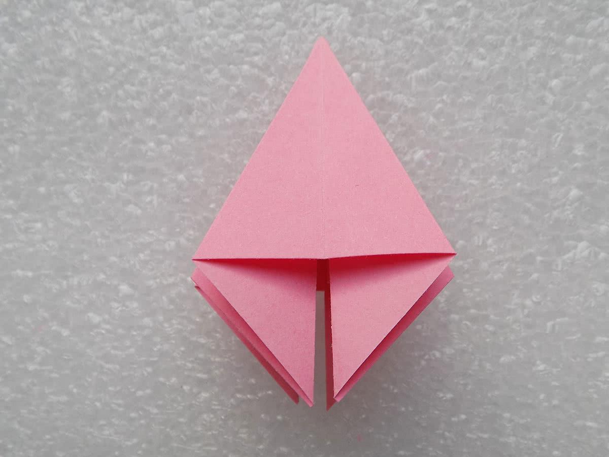 Оригами лилия шаг 9
