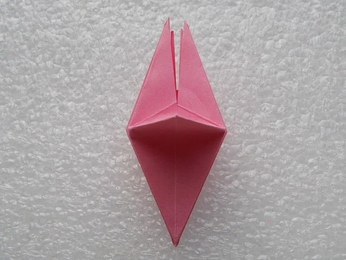 Оригами лилия шаг 13
