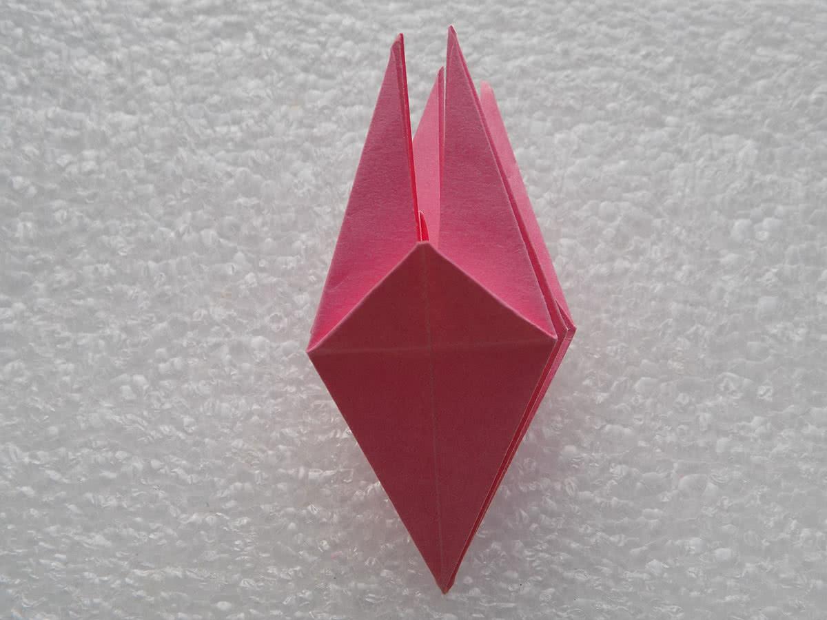 Оригами лилия шаг 14