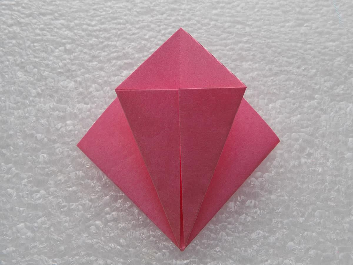 Оригами лилия шаг 4