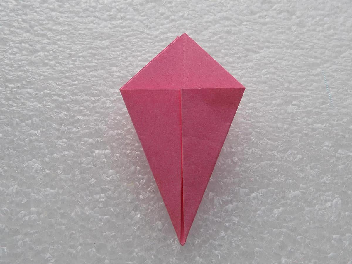 Оригами лилия шаг 5