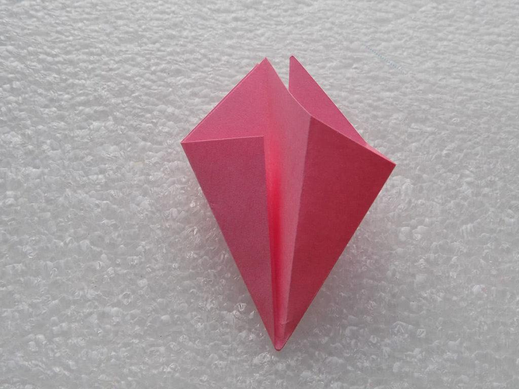 Оригами лилия шаг 6