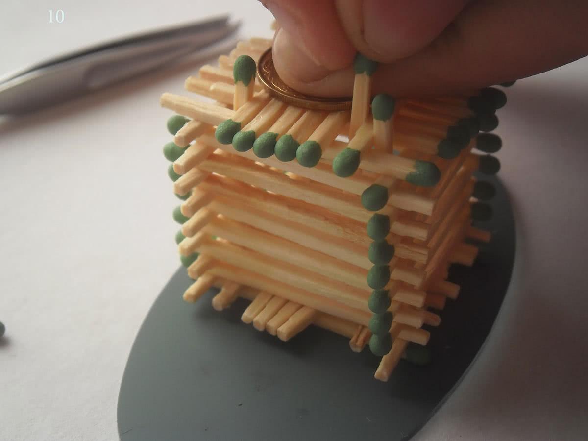 Как сделать домик из спичек шаг 10