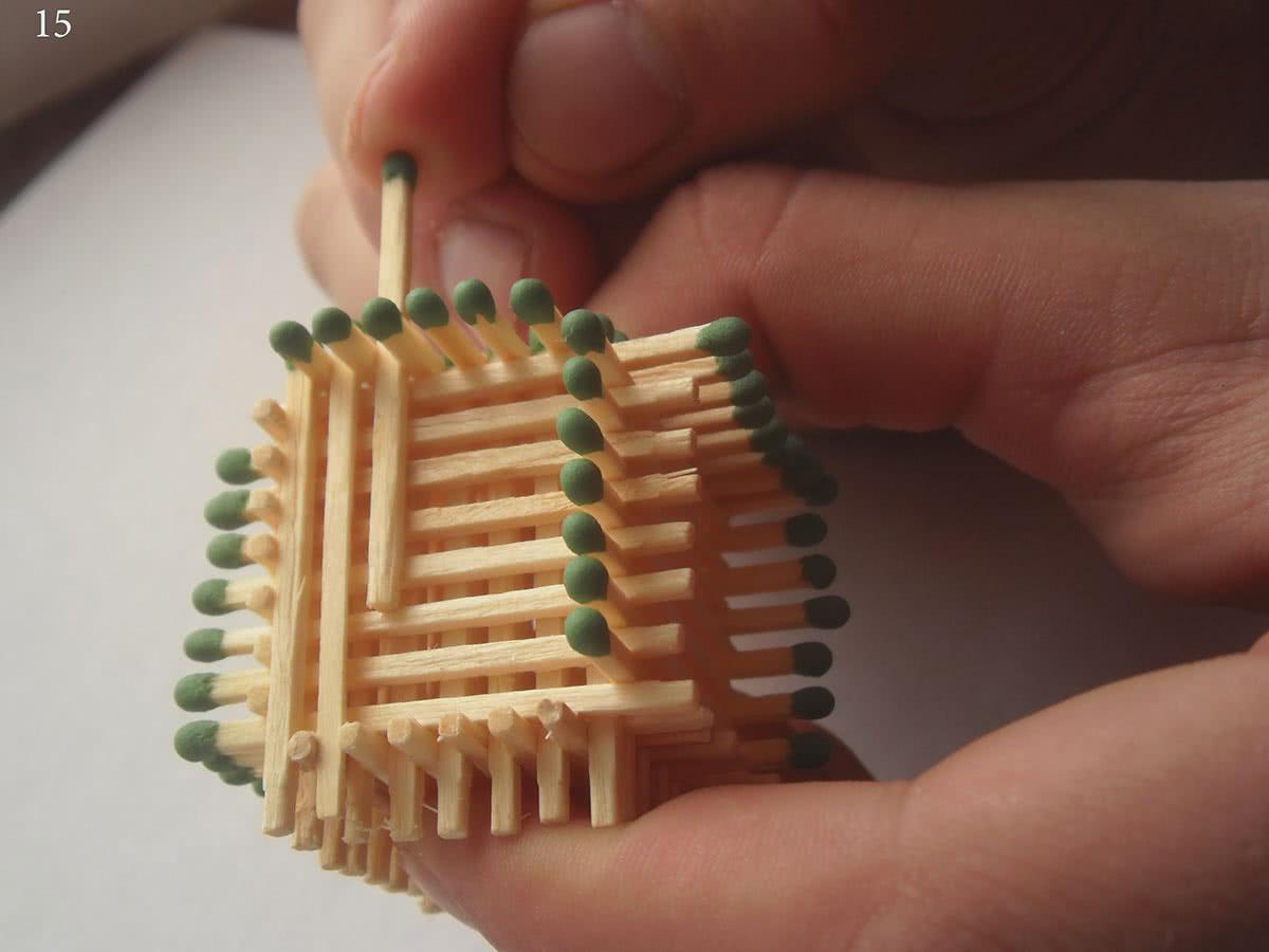 Как сделать домик из спичек шаг 15