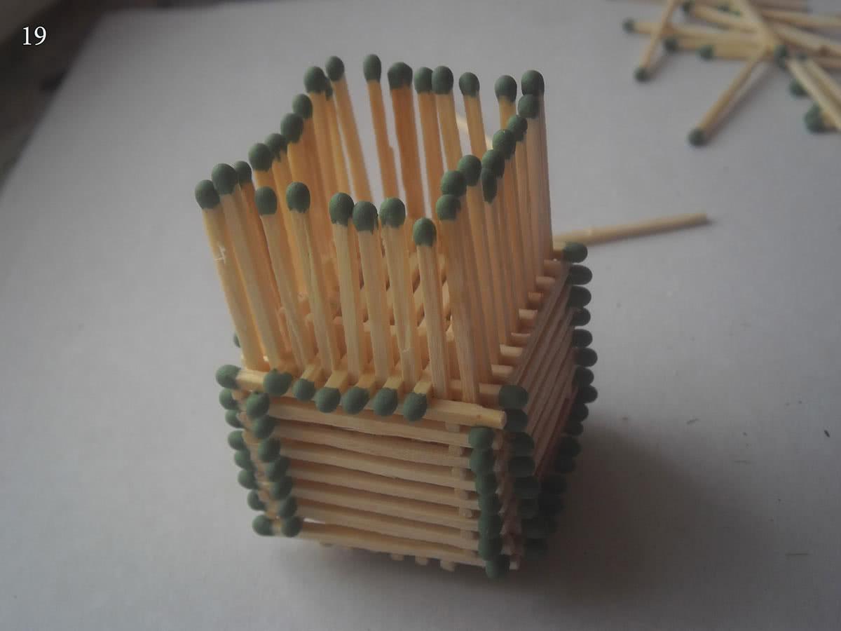 Как сделать домик из спичек шаг 19