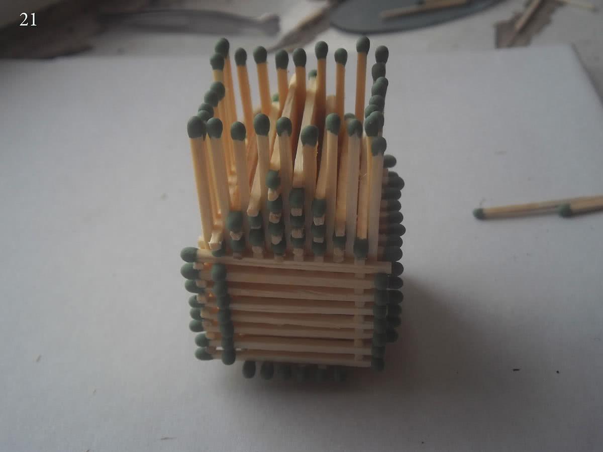 Как сделать домик из спичек шаг 21