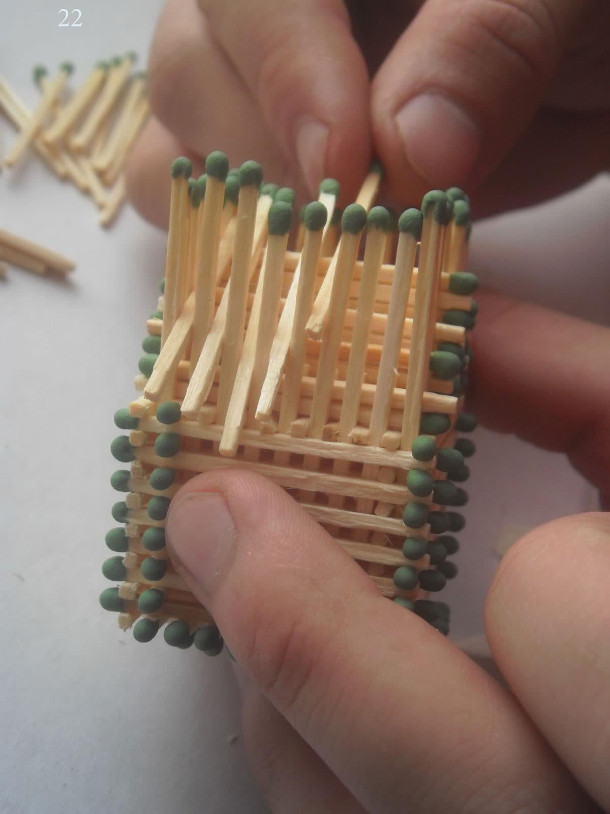 Как сделать домик из спичек шаг 22