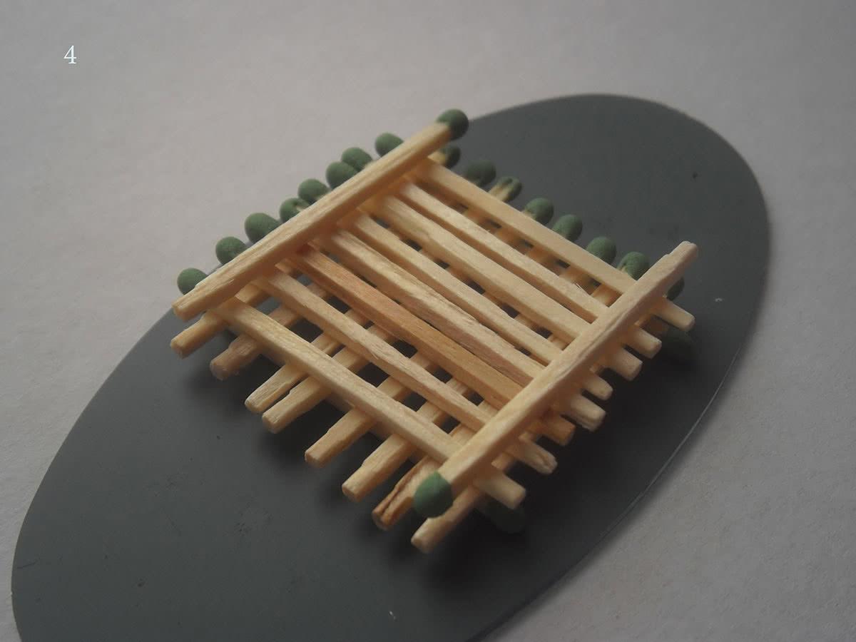 Как сделать домик из спичек шаг 4