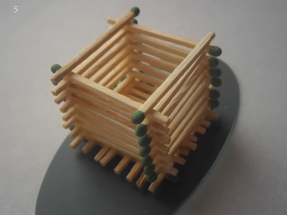 Как сделать домик из спичек шаг 5