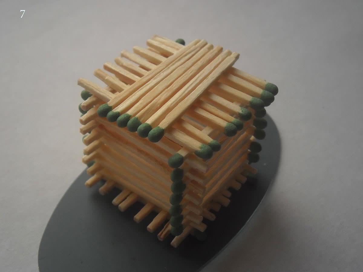Как сделать домик из спичек шаг 7