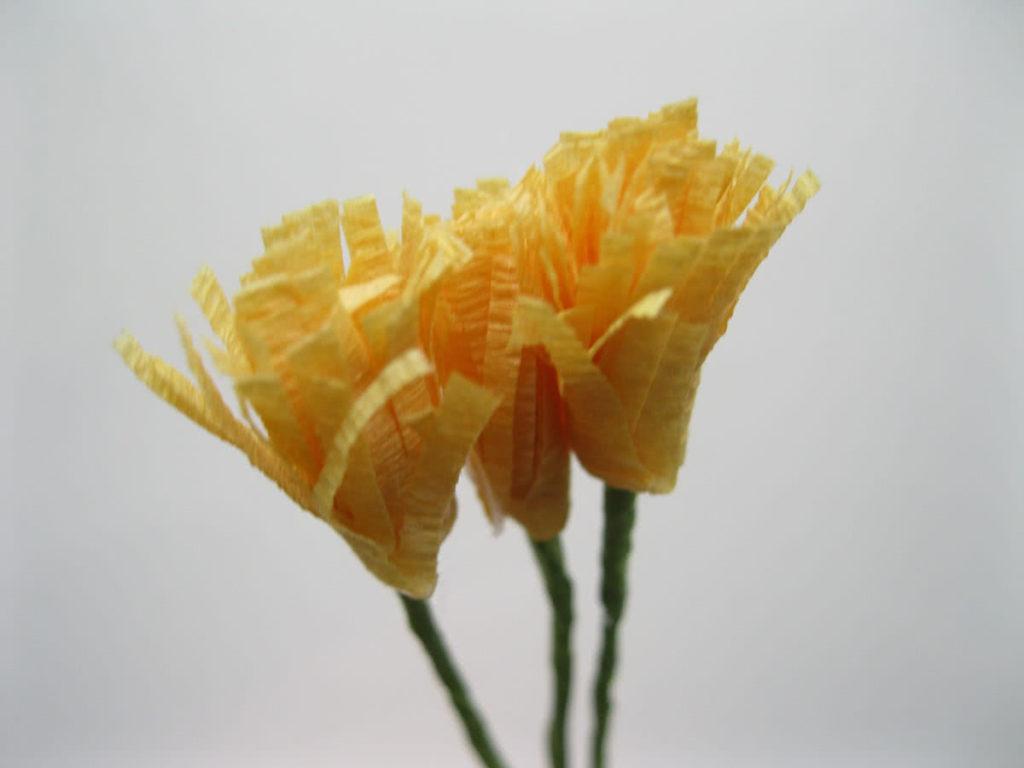 Крокусы из гофрированной бумаги шаг 9-2