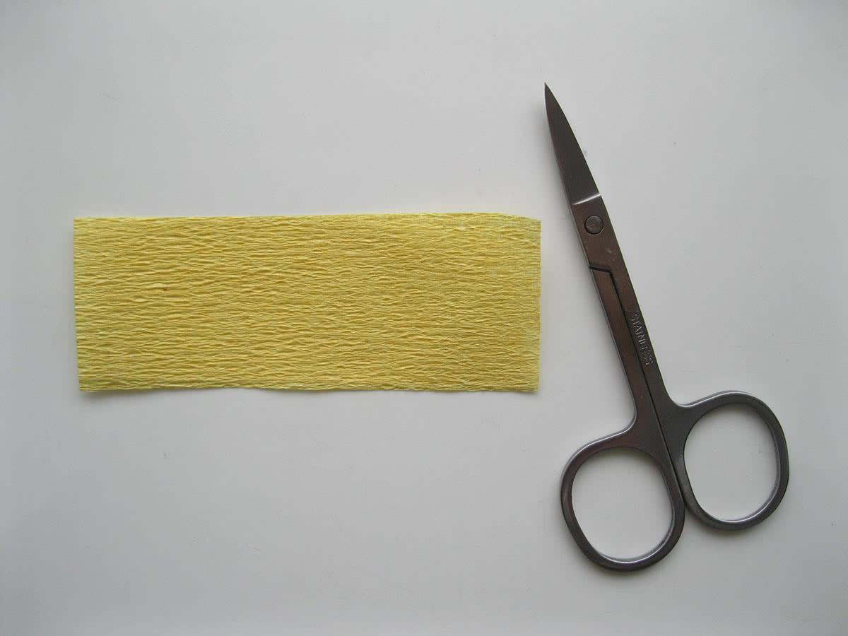 Крокусы из гофрированной бумаги шаг 1