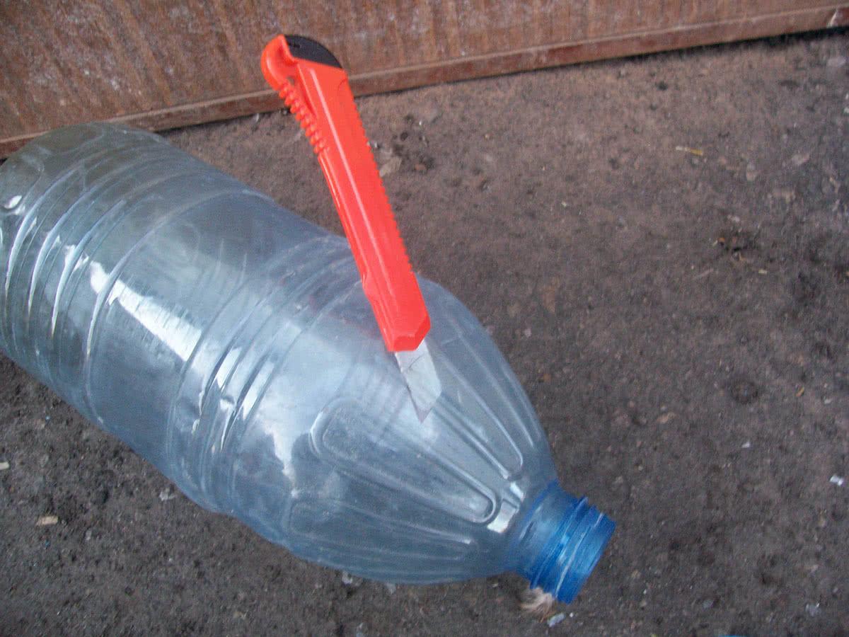 Срезать горловину бутылки