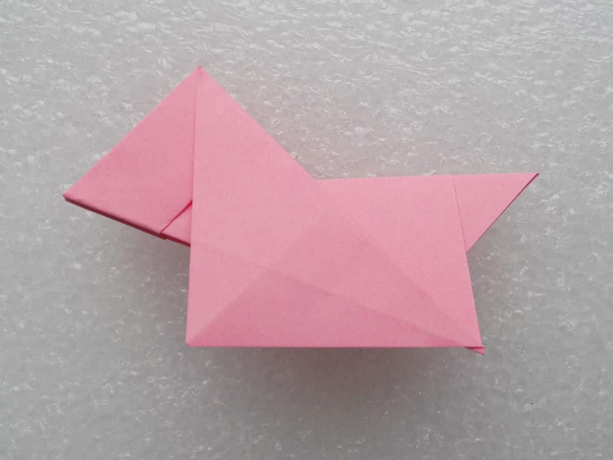 Собака оригами шаг 10