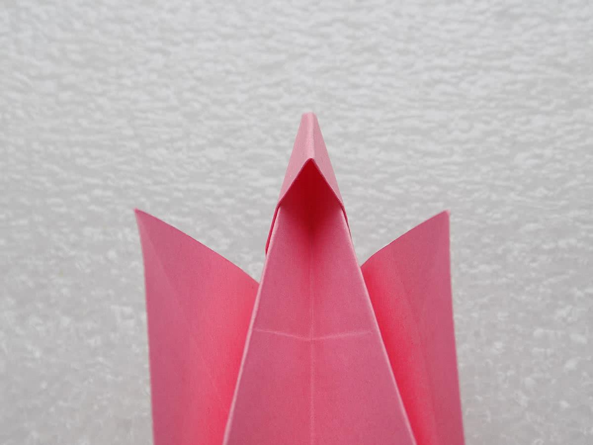 Собака оригами шаг 12