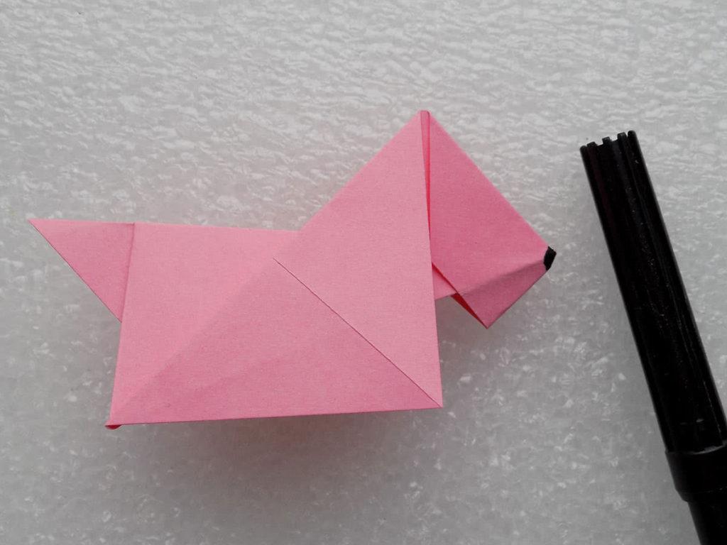 Собака из бумаги шаг 14