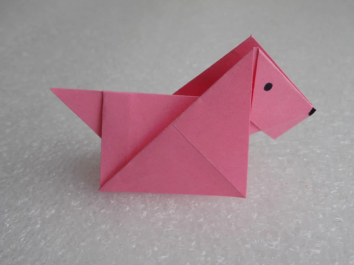 Собака оригами своими руками