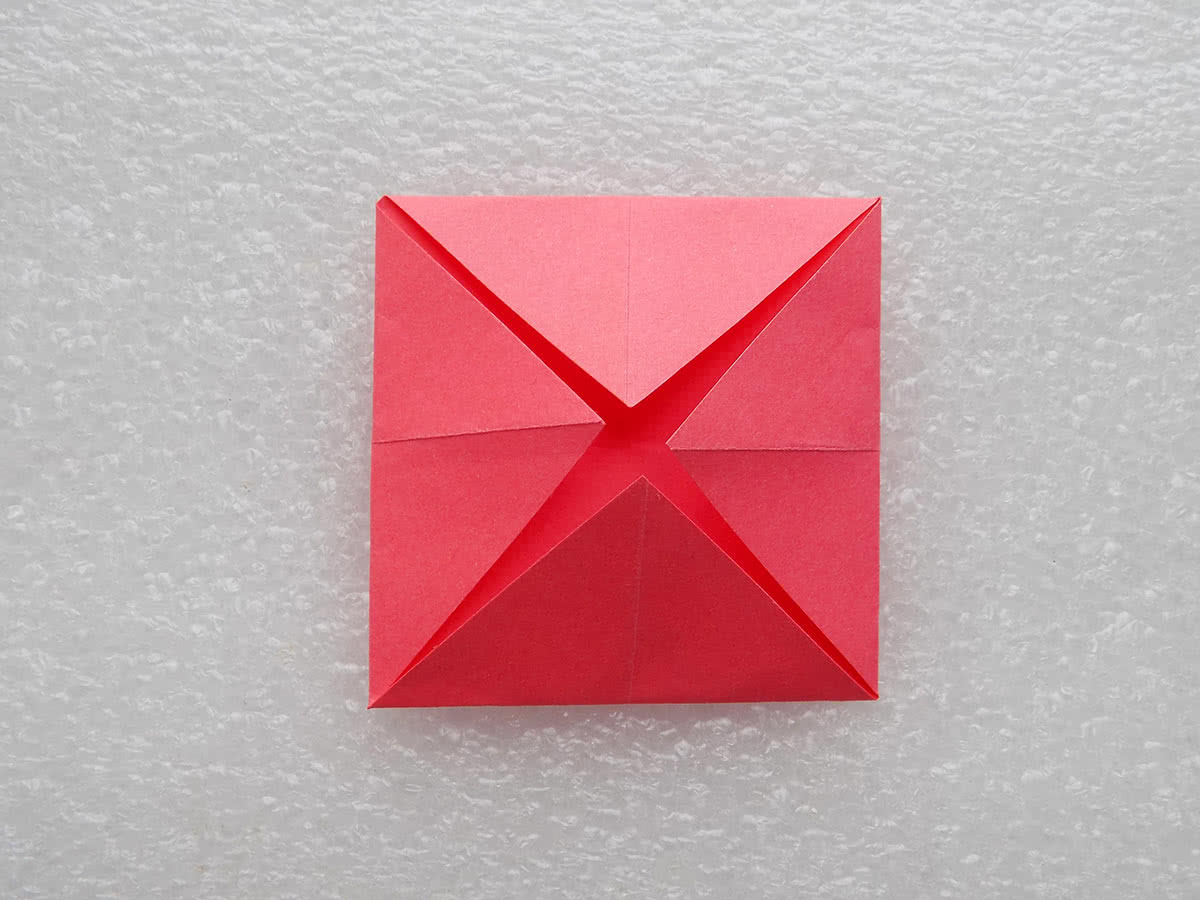 Солнце оригами шаг 2