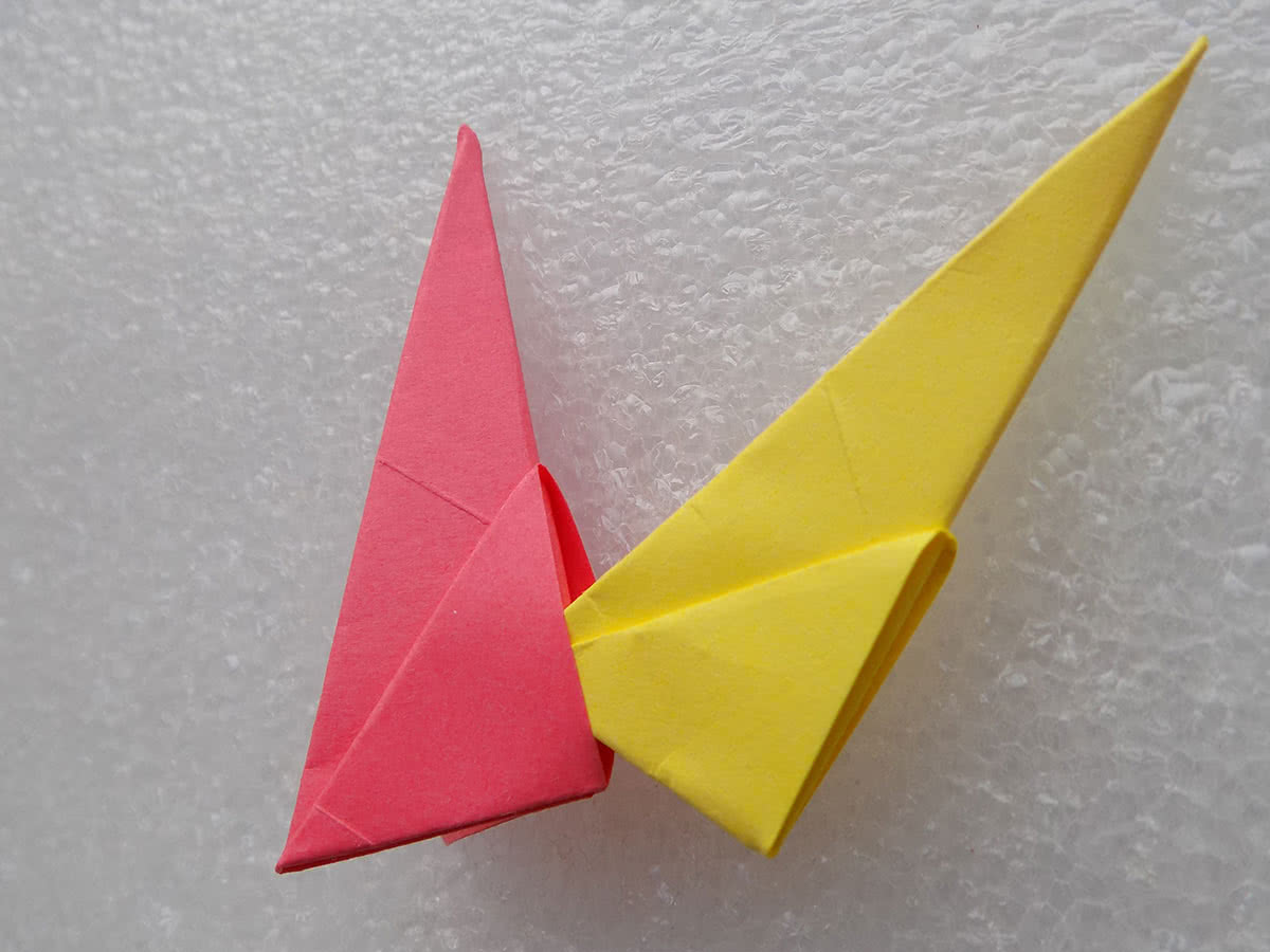 Солнце оригами шаг 3