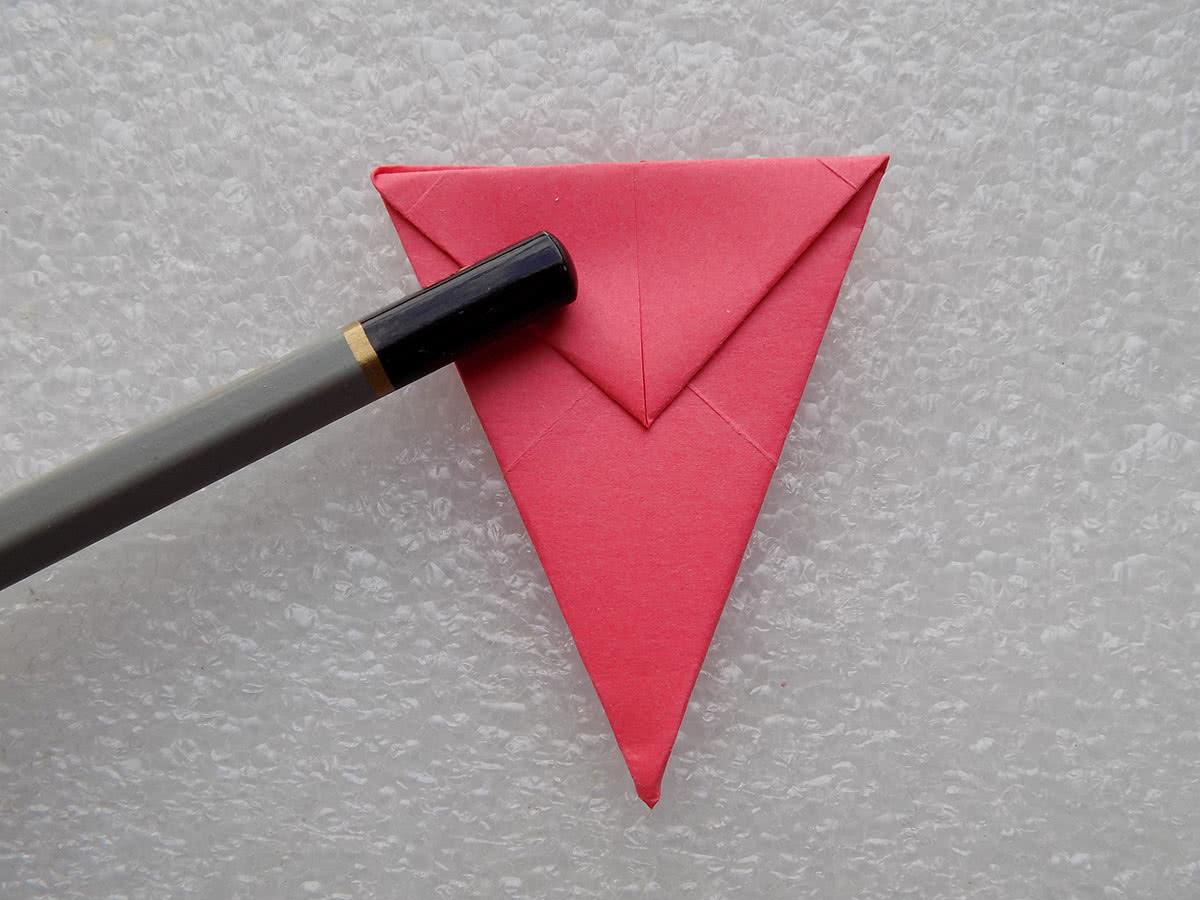 Солнце оригами шаг 4