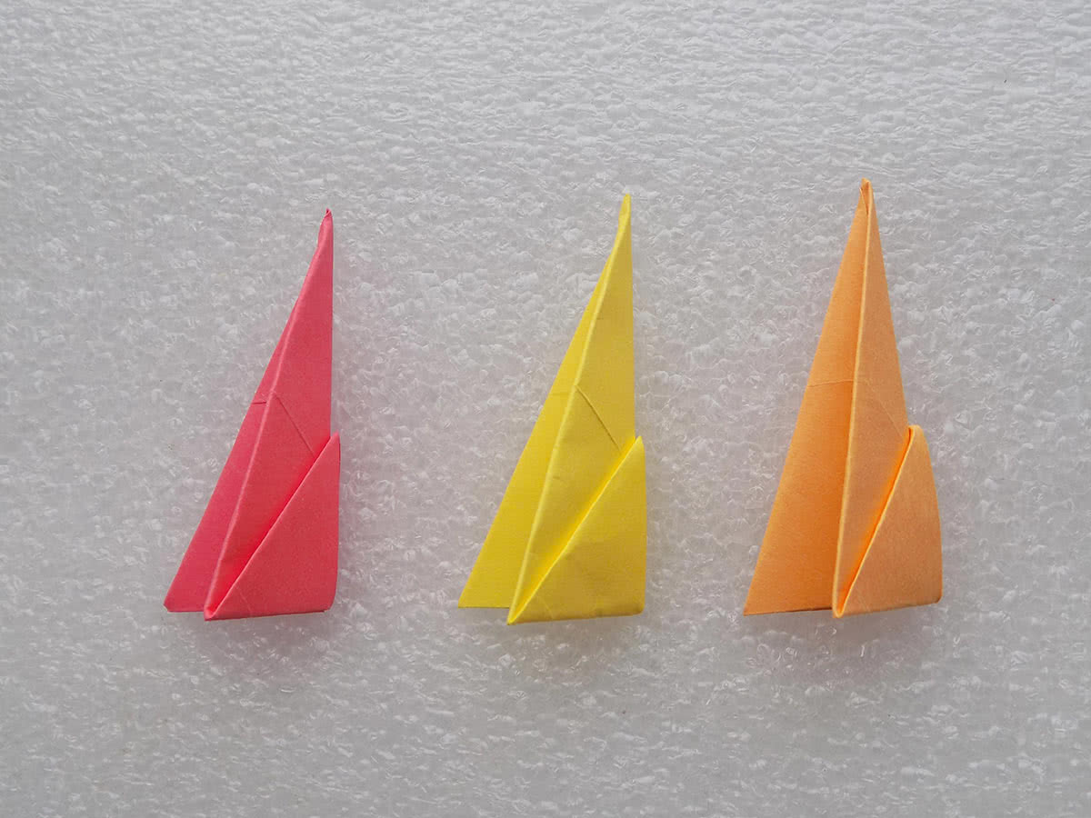 Солнце оригами шаг 6