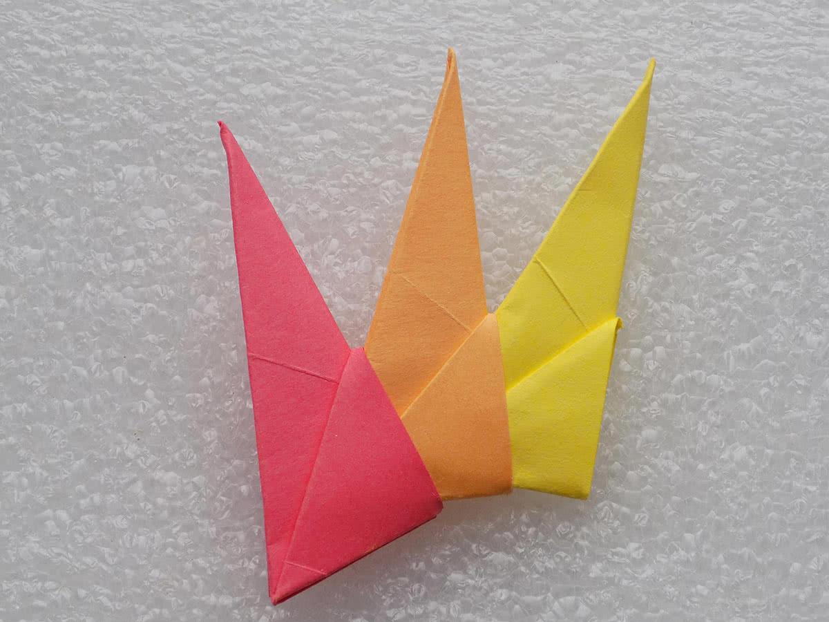 Схема модульного оригами солнце