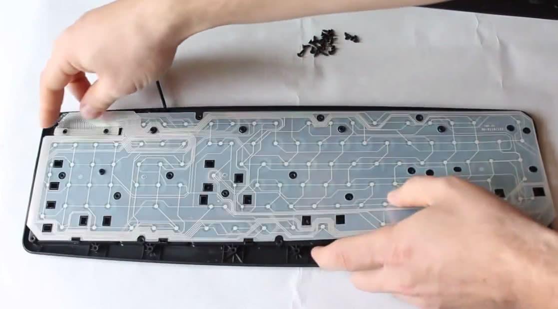 Разборка клавиатуры