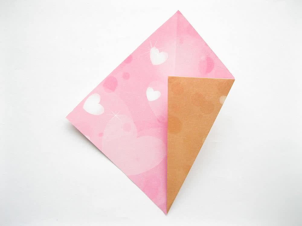 Мороженое оригами шаг 3