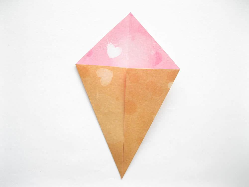 Мороженое оригами шаг 4
